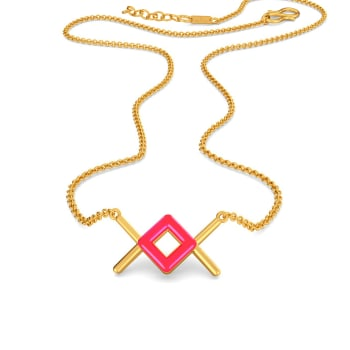 Pink Parade Gold Necklaces