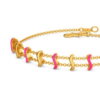 Pink On The Brink Gold Bracelets