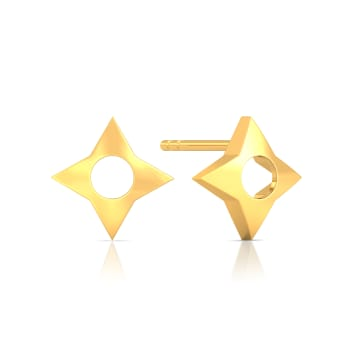 Star of Goth Gold Earrings