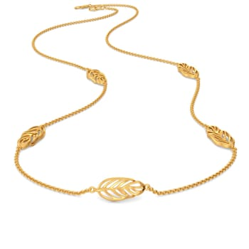 Disco Feathers Gold Necklaces