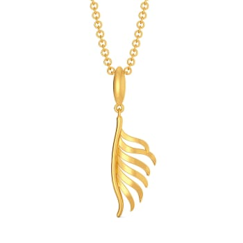 Feather Flow Gold Pendants