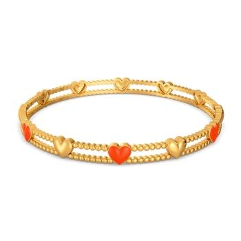 Colour Crush Gold Bangles