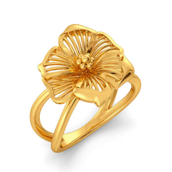 Flower Afar Gold Rings