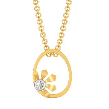 Greek lotus Diamond Pendants