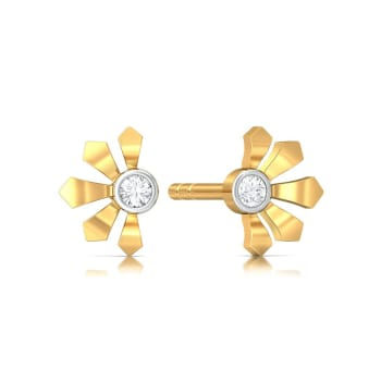 Greek lotus Diamond Earrings