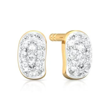 Bean gleam Diamond Earrings