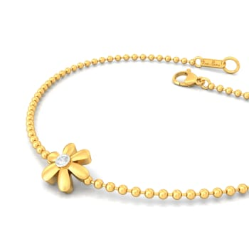 Floral Charm Diamond Bracelets