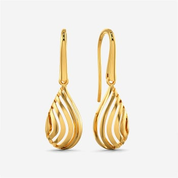 Sea Shell Gold Earrings