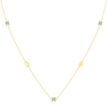 Spring Olive Gemstone Necklaces