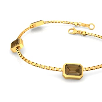 Caramel Facets Gemstone Bracelets