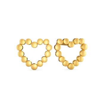 Dancing Hearts Gold Earrings