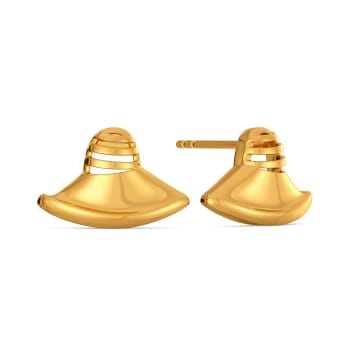 Cloche Call Gold Earrings