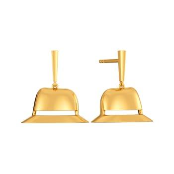 Hail A Hat Gold Earrings