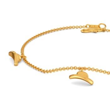 Playful Hats Gold Bracelets
