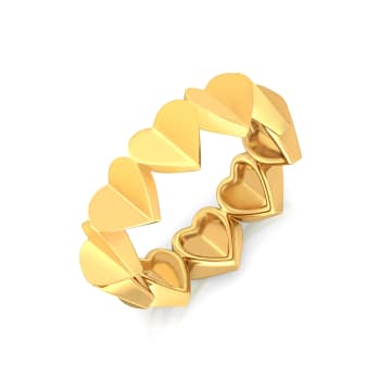 Cold Folds Gold Rings