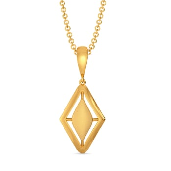 Elegant Edge Gold Pendants
