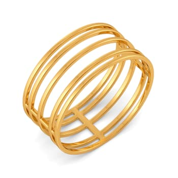 Lacy Label Gold Rings