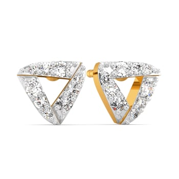 The Feisty Three Diamond Earrings
