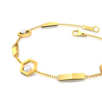 Hexagon Styling Gemstone Bracelets