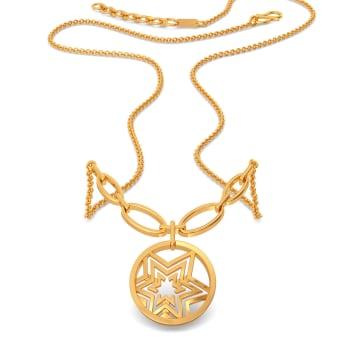 Logo Luck Gold Necklaces