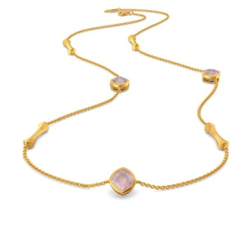 Pastel Pink Gemstone Necklaces
