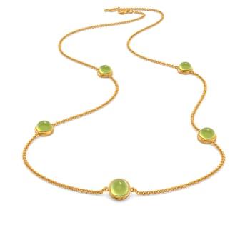 Green Sheen Gemstone Necklaces