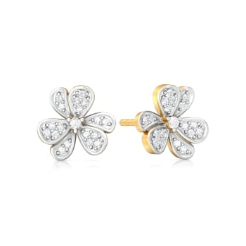 Treble Corsage  Diamond Earrings