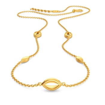 Cryptical Elliptical Gold Necklaces