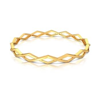 Rhomb Aplomb  Gold Bangles