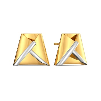 Hike The Line Gold Earrings
