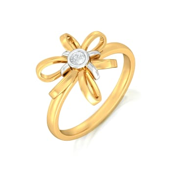Blossom Ribbon Diamond Rings