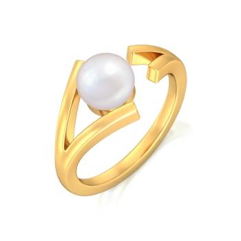 Criss-over-cross Gemstone Rings
