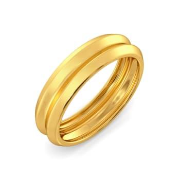 D-tucks Gold Rings