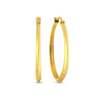 D-tucks Gold Earrings