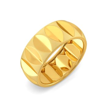 The Leaf Crease Gold Rings