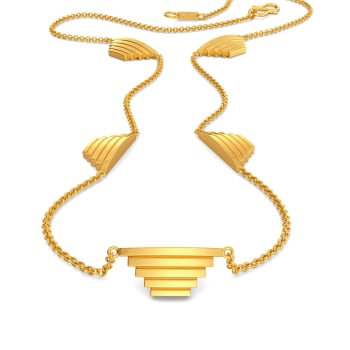 A Pleat Treat Gold Necklaces
