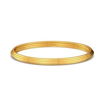A Pleat Treat Gold Bangles