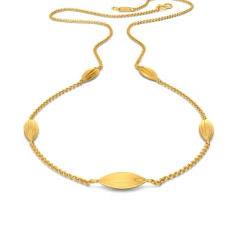 Frill Thrill Gold Necklaces