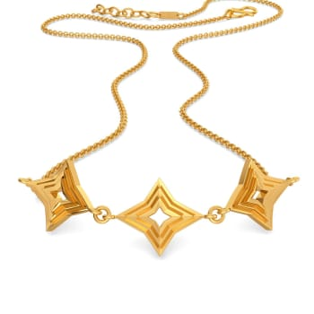 Ridges N Rims Gold Necklaces