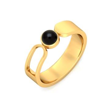 Paperclip Gemstone Rings