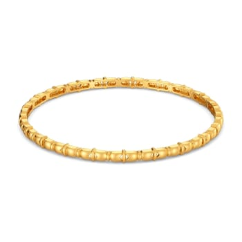 The Rule of Bow Gold Bangles