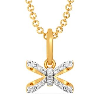 Theme of Bow Diamond Pendants
