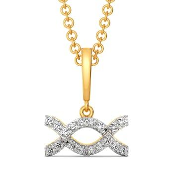 Wavin Bows Diamond Pendants