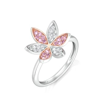 Pink Jasmine Diamond Rings