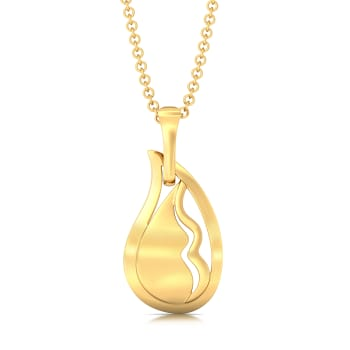 New Wave Gold Pendants