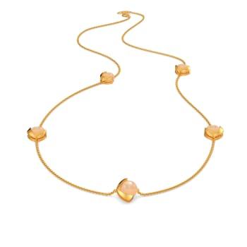 Peach Palette Gemstone Necklaces