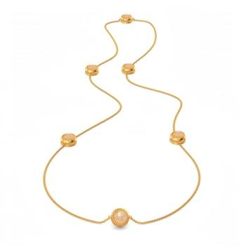 Peach Pop Gemstone Necklaces