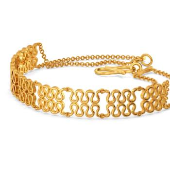 Knit Lit Gold Bracelets
