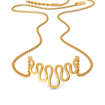 Knit Lit Gold Necklaces