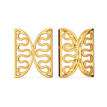 Knotty Mesh Gold Earrings